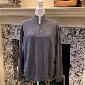 Tommy Bahama 1/4 Zip Reversible Sweater Size Large